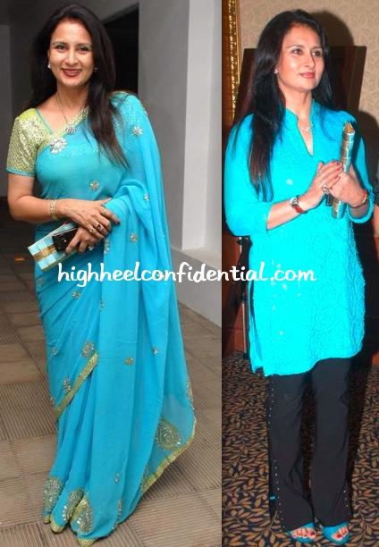 poonam-dhillon-poison-relaunch-art-event-blue-sari-blue-tunic.jpg