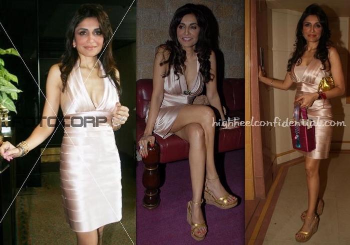 queenie-dhody-bcbgmaxazaria-satin-tiered-dress-farah-khan-triplets-birthday-bash.jpg