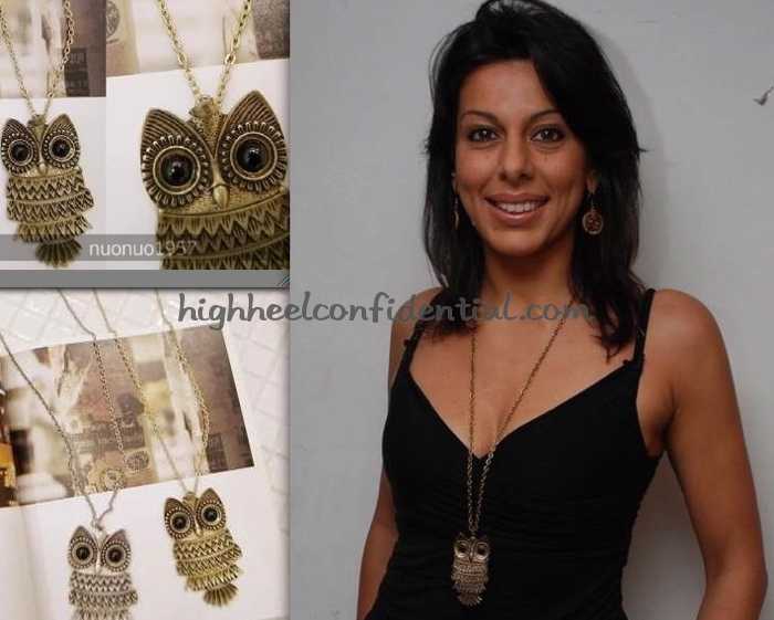 pooja-bedi-forever-21-owl-necklace