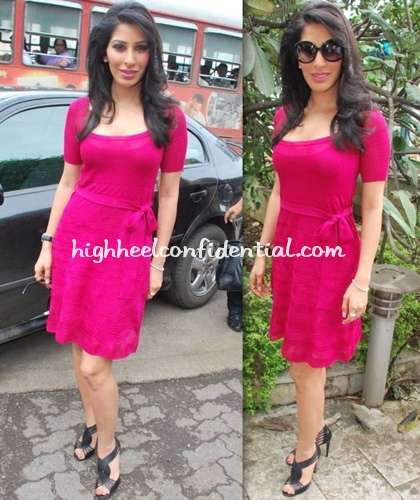 sergio-rossi-sandals-sophie-chaudhary-pink-dress-daddy-cool