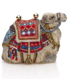 judith leiber gobi camel minaudiere