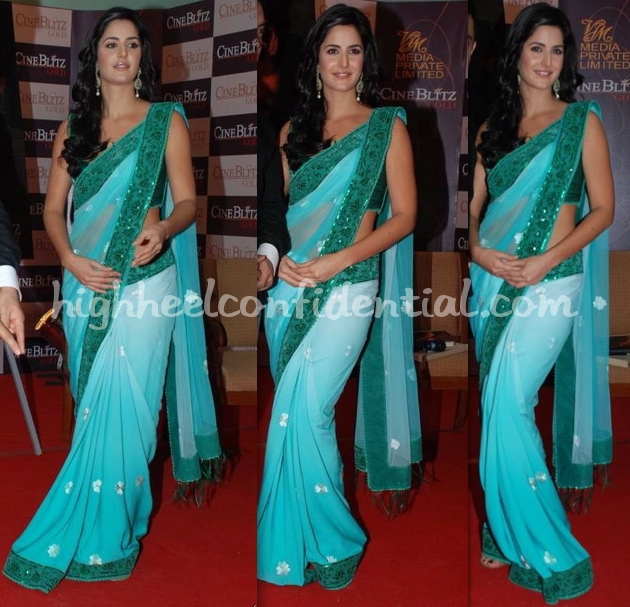 cineblitz-gold-issue-launch-katrina-kaif-tarun-tahiliani-sari