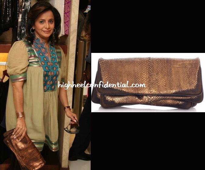 roopa-fabiani-bottega-veneta-clutch-shantanu-and-nikhil-collection-showcase