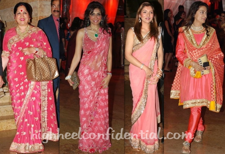 sunanda-shetty-queenie-dhody-narmada-ahuja-juhi-chawla-shilpa-shetty-wedding-reception