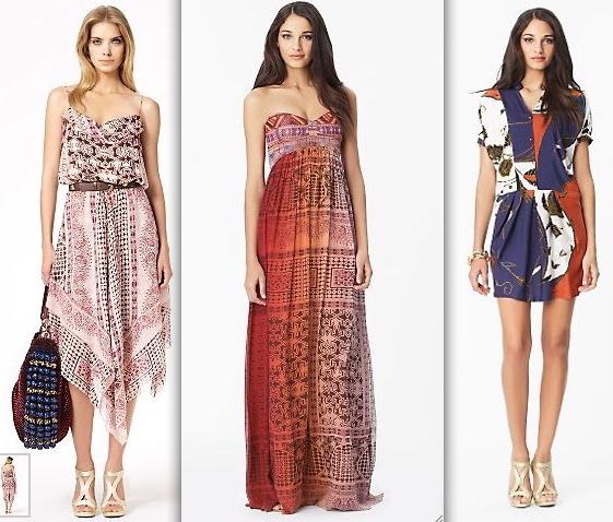 dvf-Bartle Dress in Indian Temple Tea-Asti Long Dress in Indian Temple Dip Dye-Swaie Dress in Indian Flowers