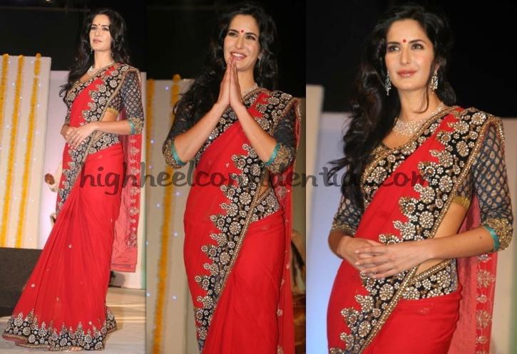 katrina-kaif-nakshatra-vivaah-collection-launch-red-sari