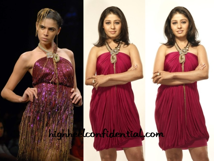 sunidhi-chauhan-indian-idol-raakesh-agarvwal-dress