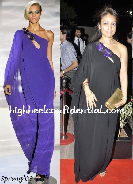 surily-goel-gucci-gown-laila-khan-wedding-reception