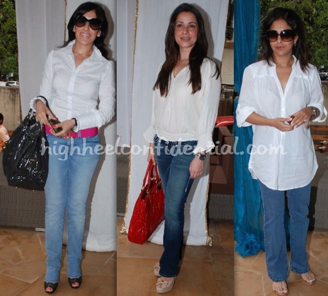twinkle-khanna-white-window-villa-tara-launch-maheka-neelam-shefali