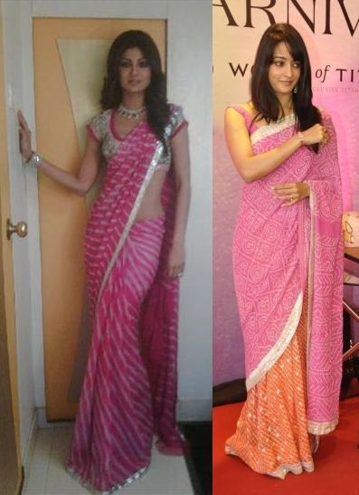 shilpa-raima-pink-tie-dye-saris-1