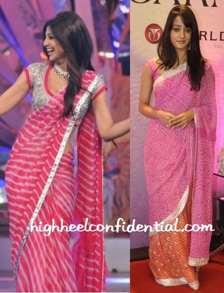 shilpa-raima-pink-tie-dye-saris