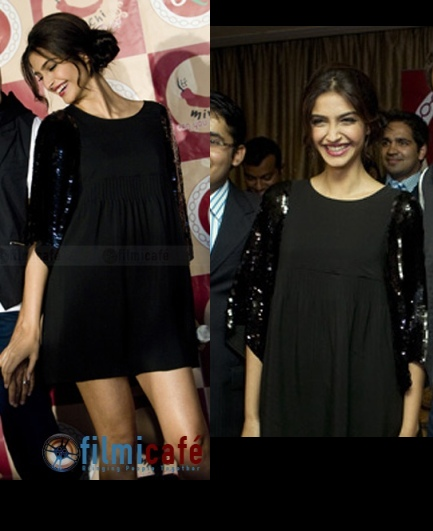 2017 fashion dress - Sonam Kapoor See By Chloe Sequin Black Dress