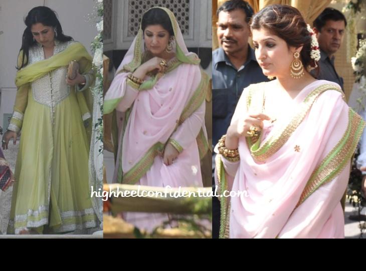 rinki-twinkle-khanna-alka-bhatia-wedding