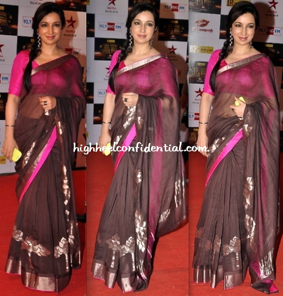 tisca-chopra-at-big-star-entertainment-awards-2012