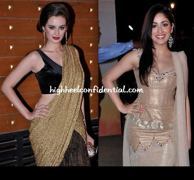 filmfare-awards-2013-evelyn-sharma-yami-gautam-2