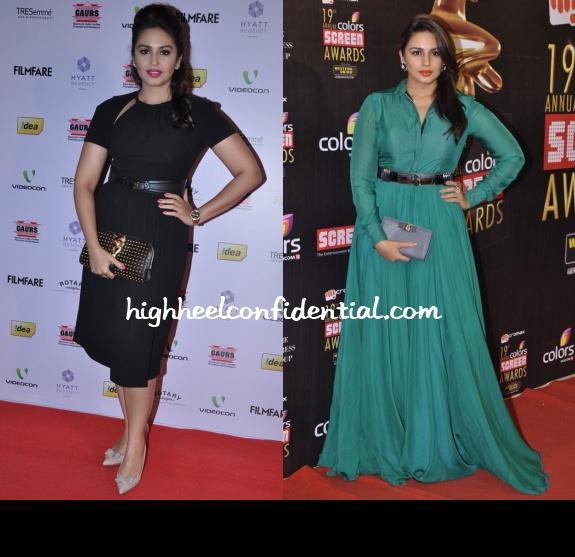 huma-qureshi-screen-awards-filmfare-nominations-bash