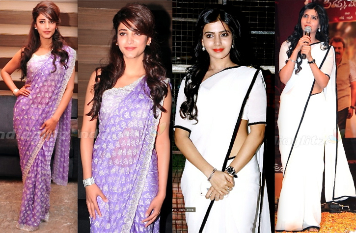 samantha prabhu-svsc triple platinum disc function-shruti hassan-balupu logo launch