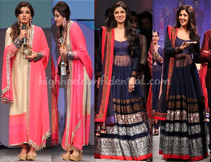 shilpa-shetty-and-raveena-tandon-in-manish-malhotra-at-doctors-conference_0