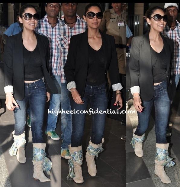 Gauri Khan Photographed At The Mumbai Airport