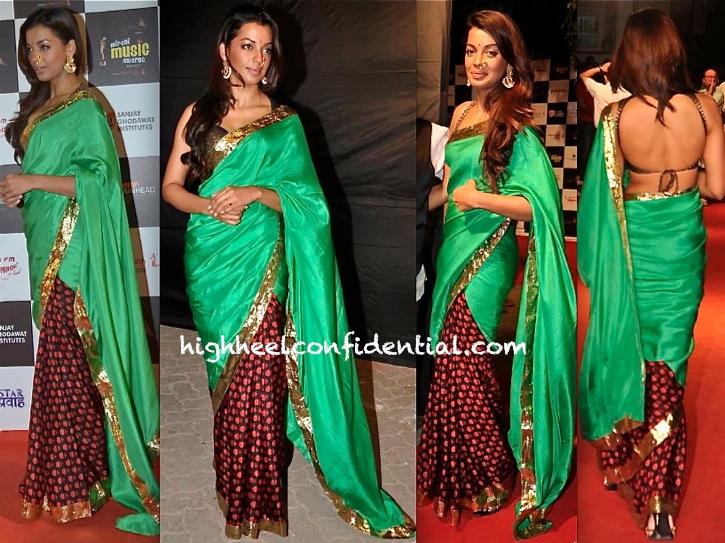 Mugdha Godse At Marathi Mirchi Music Awards 2013 In Masaba-1