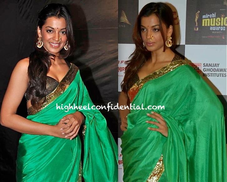 Mugdha Godse At Marathi Mirchi Music Awards 2013 In Masaba-2