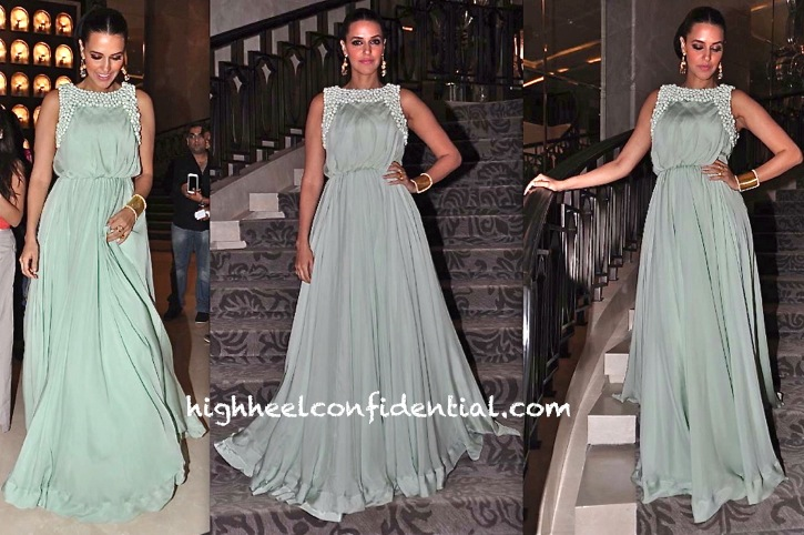 Neha Dhupia At British Columbia Tourism Event TOIFA Press Meet In Anikka And Aquamarine
