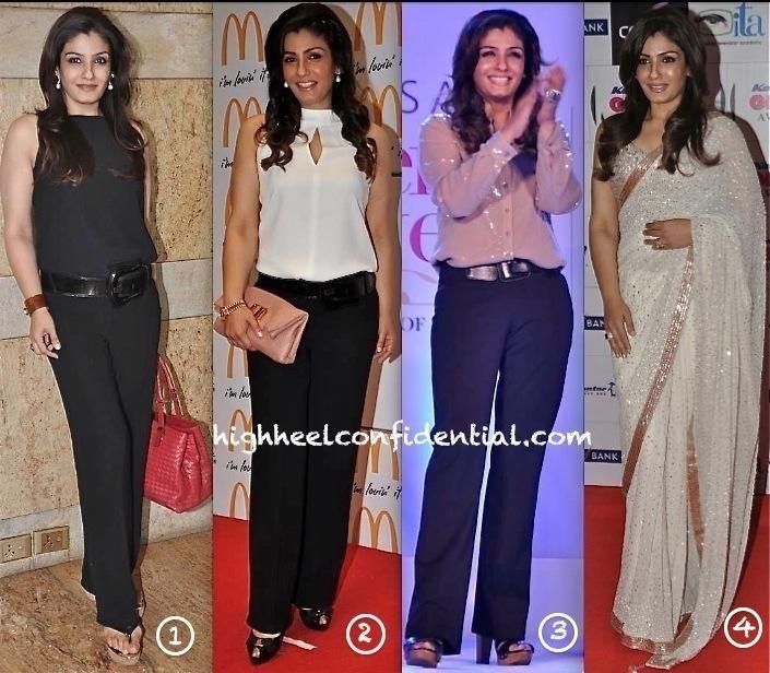 Raveena Tandon At Fusion Awards, Lavasa Women's Drive Awards, McDonalds Event and At Gr8 Women Achievers Awards 2013-1