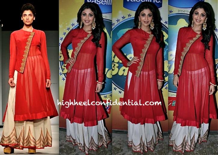 Shilpa Shetty In Anand Kabra On Nach Baliye Sets