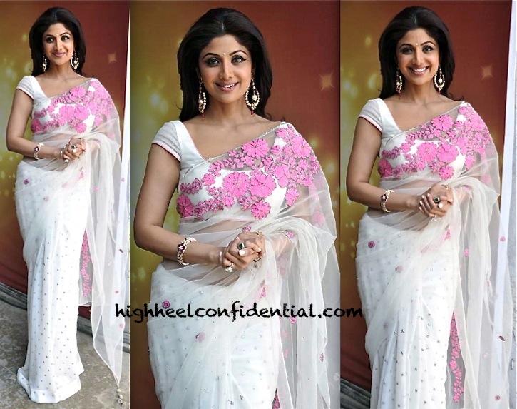 Shilpa Shetty In Nandita Mahtani On Nach Baliye Sets