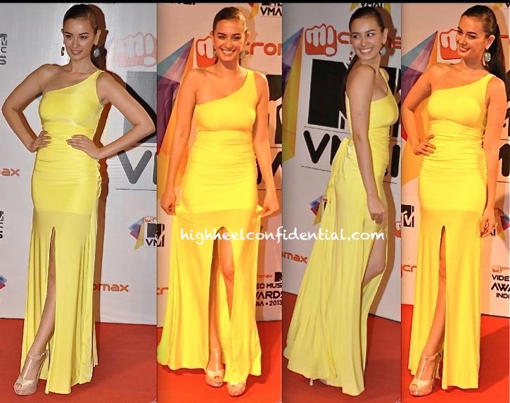 evelyn sharma in ramona narang at mtv india video music awards 2013