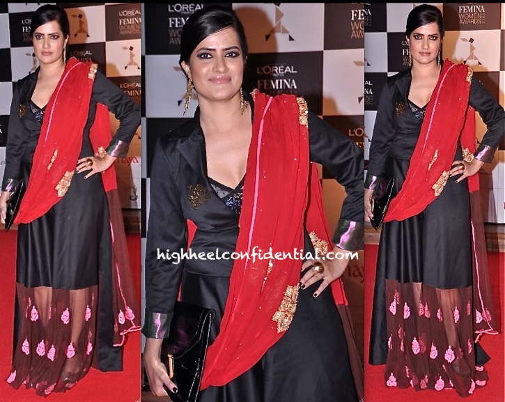 loreal femina women awards 2013-sona mohapatra-gaga by tanya sharma