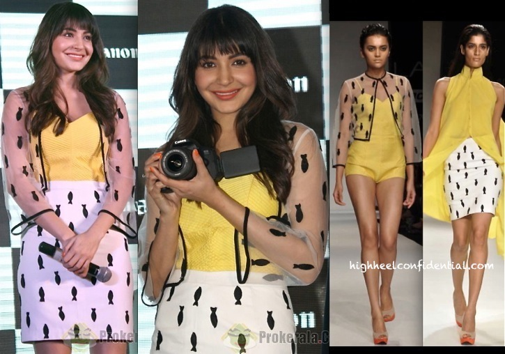 Anushka Sharma In Nikhil Thampi At Canon's WiFi Cameras Launch