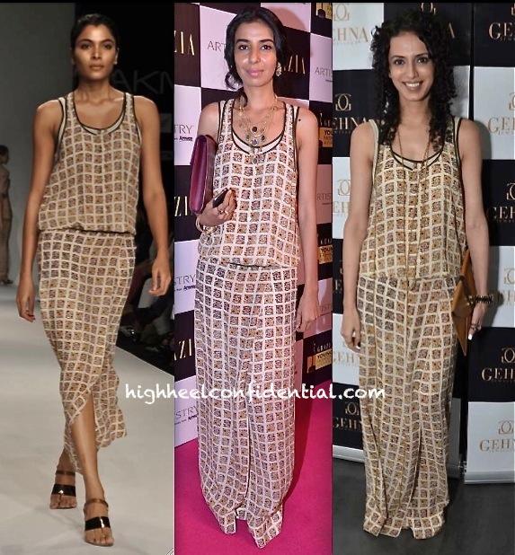 Aparna Badlani At James Ferreira For Gehna Jewellers Preview And Ekta Rajani At Grazia Young Fashion Awards 2013 in nupur kanoi