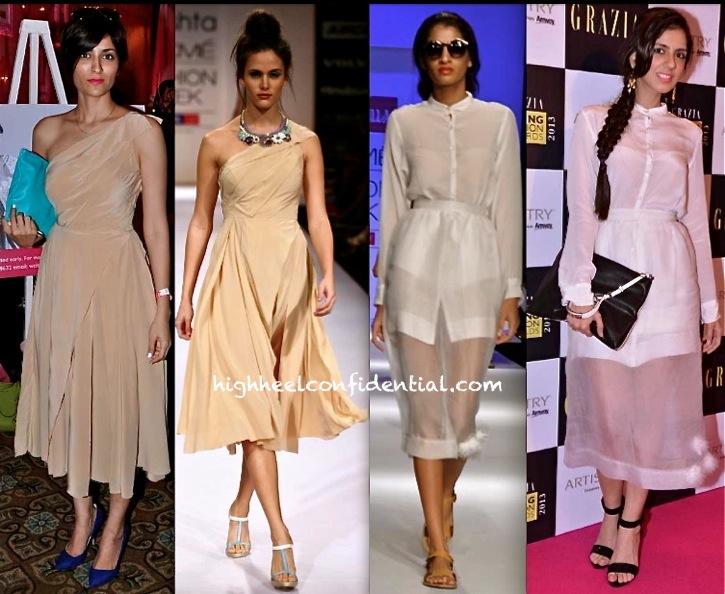 Drashta Sarvaiya At Elle Carnival For A Cause and Nishka Lulla At Grazia Young Fashion Awards 2013