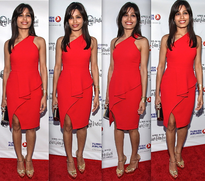 Freida Pinto At Indian Film Festival Of Los Angeles Opening Night Gala In Rachel Roy