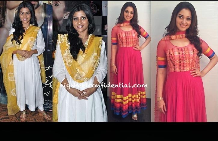 Konkona Sen Sharma At Ek Thi Daayan Promotions And Tamannah At Himmatwala Promotions