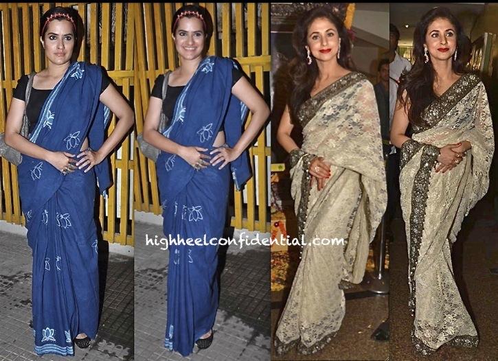 Urmila Matondkar At Dadasaheb Phalke Awards 2013 And Sona Mohapatra At Bombay Talkies Screening