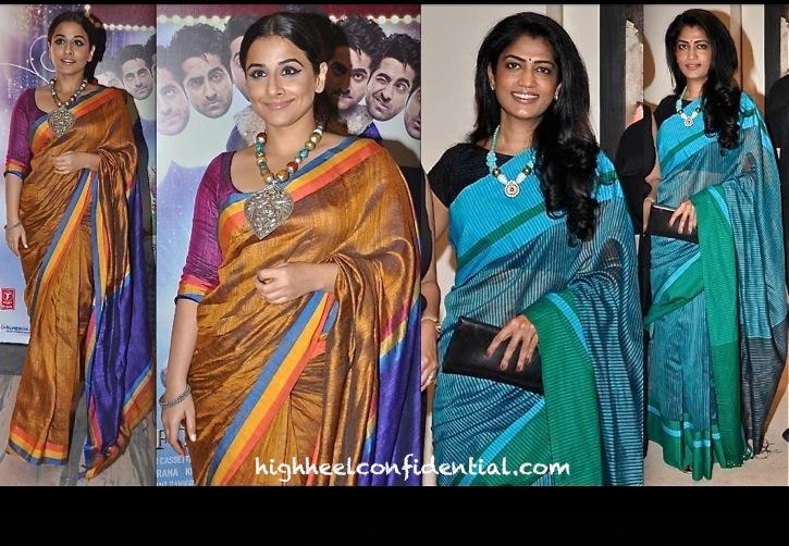 Vidya Balan At Nautanki Saala Screening and Swati Shetty At An Art Event
