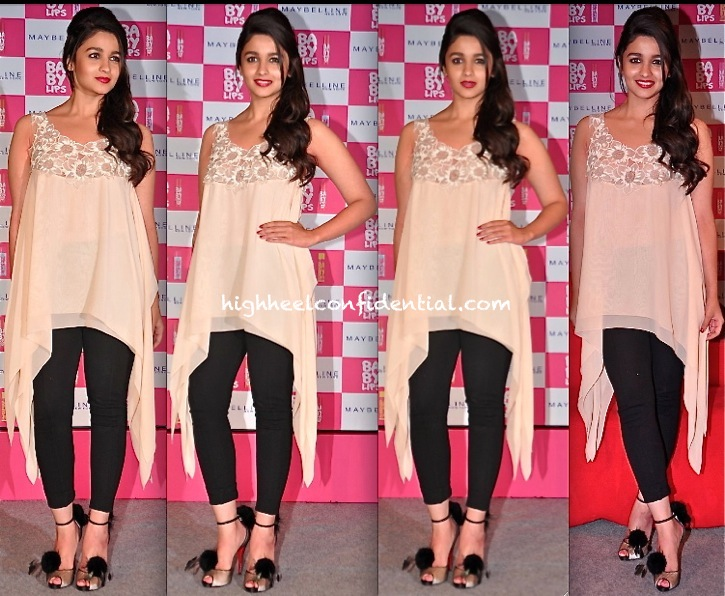 Alia Bhatt In Shehlaa By Shehla Khan At The Maybelline Event