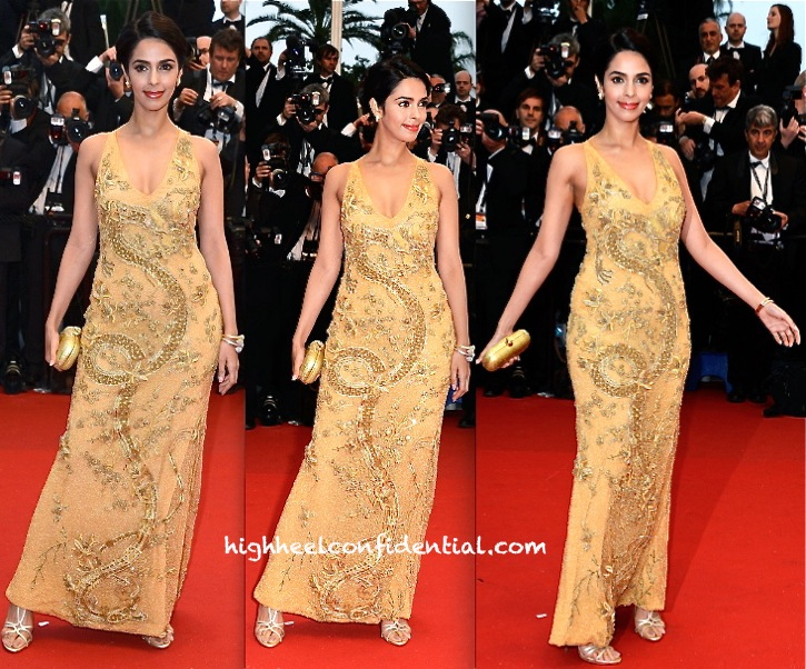 Mallika Sherawat At Cannes 2013-The Great Gatsby Screening