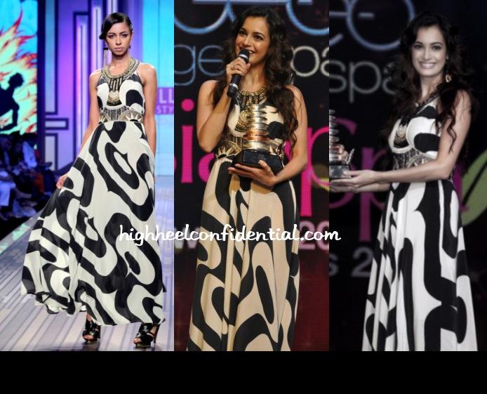 dia-mirza-ritu-kumar-label-asiaspa-awards-2013