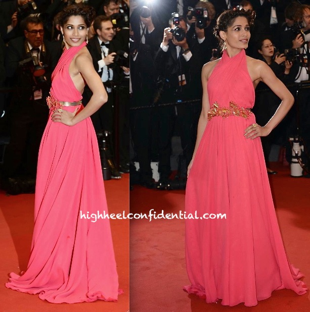 freida pinto on day one of cannes 2013