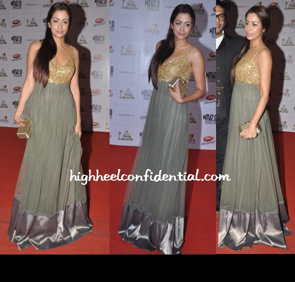 madhura-naik-rocky-s-indian-telly-awards-2013