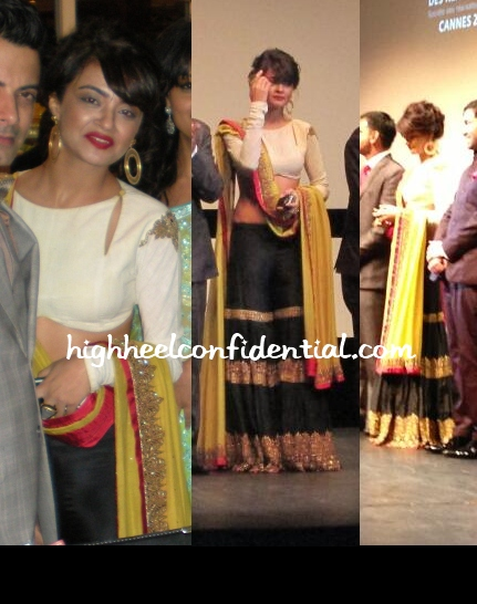 surveen-chawla-anand-kabra-ugly-screening-cannes-2013