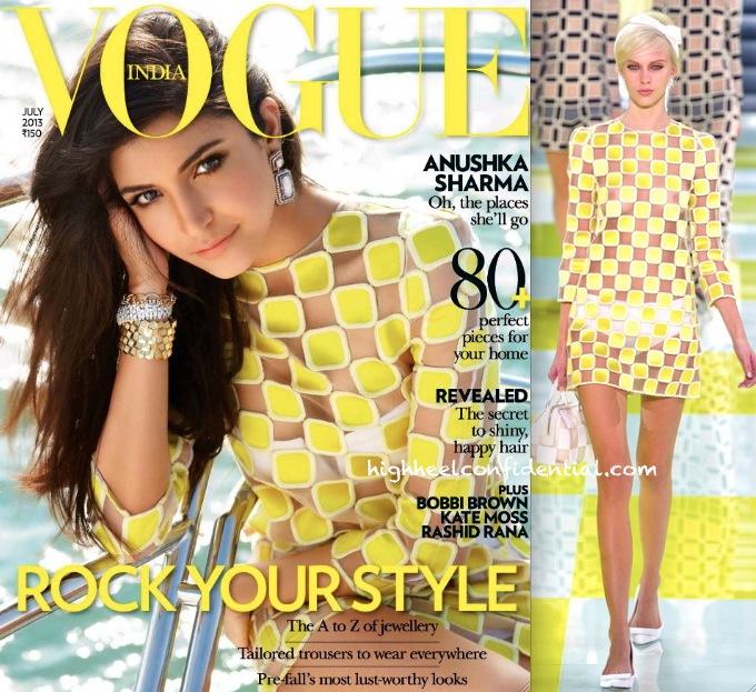 Anushka Sharma In Louis Vuitton On Vogue india July 2013 Cover