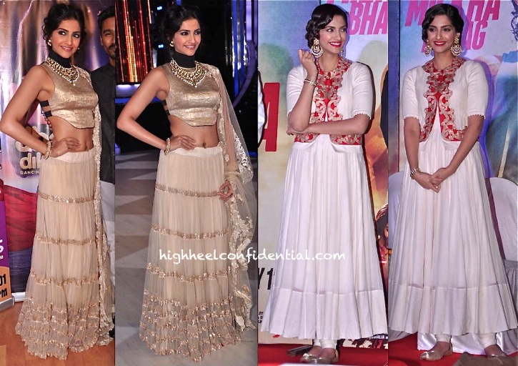 In Anamika Khanna- Sonam Kapoor On Jhalak Dikhhla Jaa Sets For Raanjhanaa And At Bhaag Milkha Bhaag First Look Launch-1