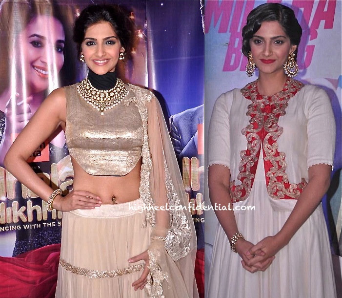 In Anamika Khanna- Sonam Kapoor On Jhalak Dikhhla Jaa Sets For Raanjhanaa And At Bhaag Milkha Bhaag First Look Launch-2