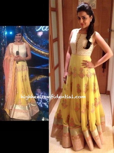 Mandira Bedi On The Sets Of Indian Idol in sonam modi