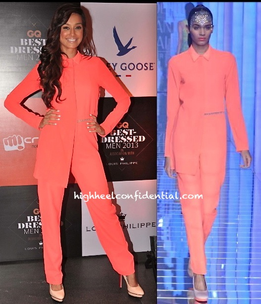 Shibani Dandekar At GQ India Best Dressed Men 2013 Do in namrata joshipura