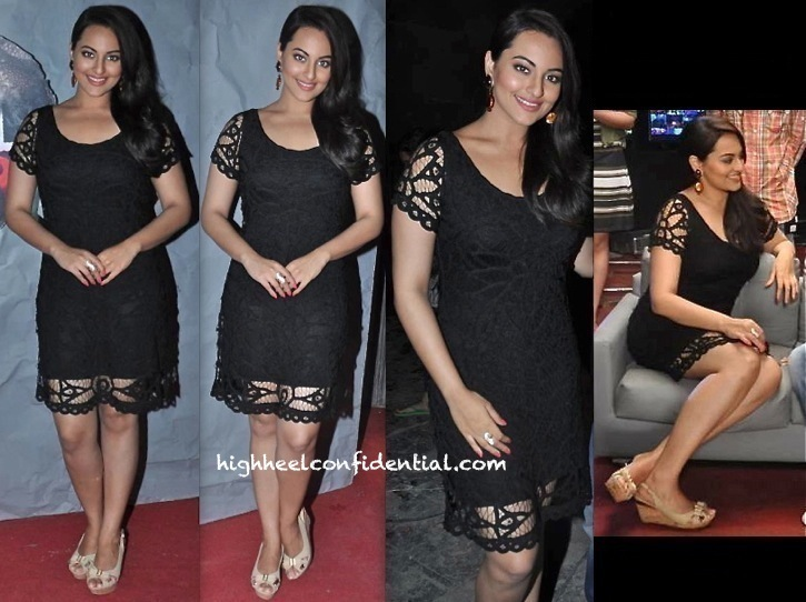 Sonakshi Sinha In Marc Cain Promotes Lootera On Emotional Atyachaar Sets